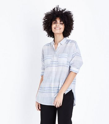 White Stripe Pocket Front Shirt