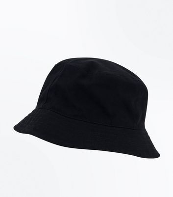Black Plain Bucket Hat by New Look
