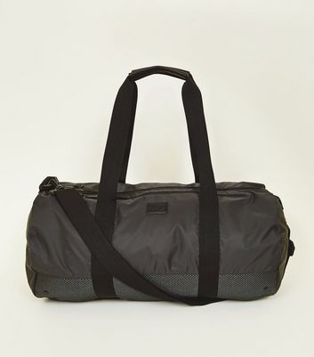 Dark Grey Sports Twin Handle Holdall Bag