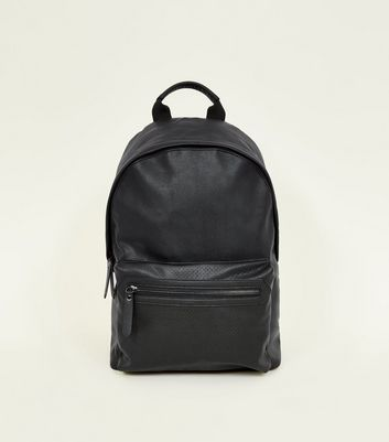 Black Perforated Backpack