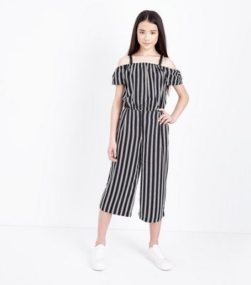 Teens Black Stripe Culottes