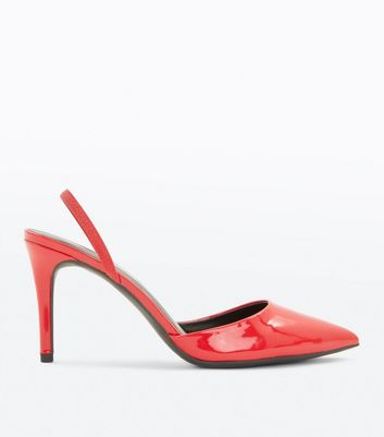 Red Patent Slingback Pointed Courts
