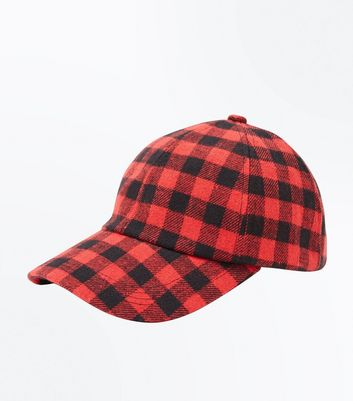 Red Check Cap