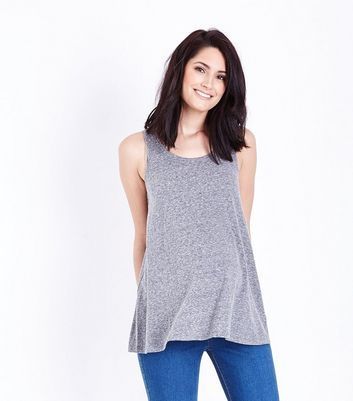 Maternity Grey Marl Swing Vest Top