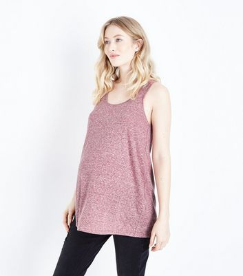 Maternity Red Marl Swing Vest Top