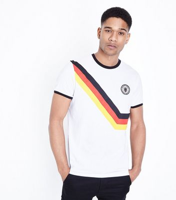 T-shirt de football blanc Allemagne