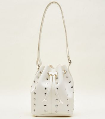 White Studded Duffle Bag