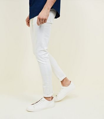White Tapered Jeans