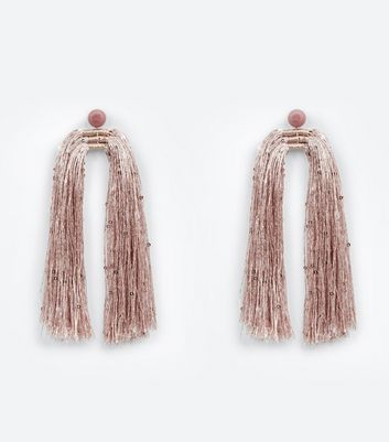 Pink Extreme Tassel Earrings
