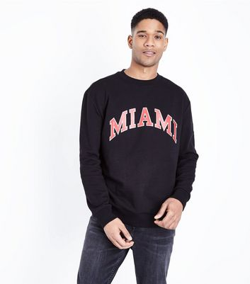 Black Miami Printed Front Sweatshirt