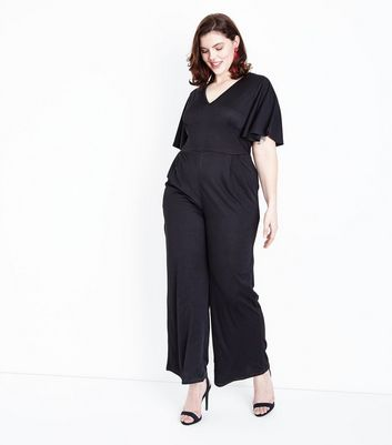 Mela Curves Black Angel Sleeve Jumpsuit