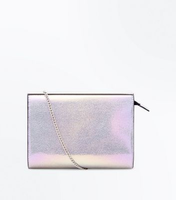 Multicoloured Holographic Chain Shoulder Bag