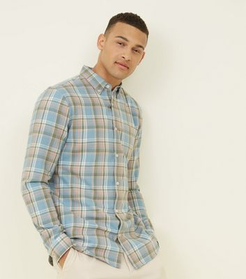 Blue Washed Check Shirt