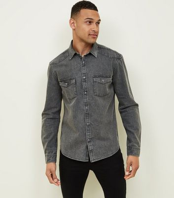 Pale Grey Denim Shirt