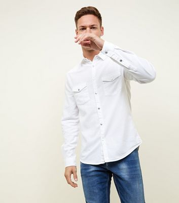 White Denim Shirt