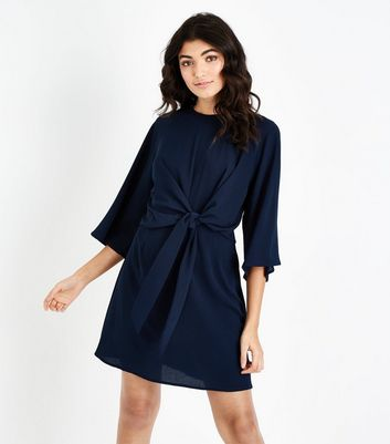 AX Paris Navy Tie Front Mini Dress