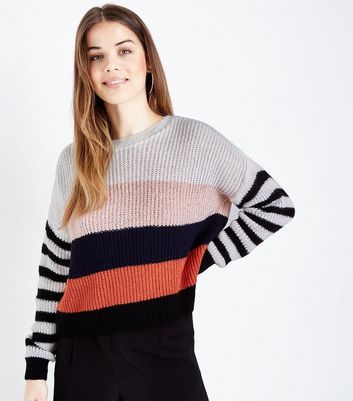 Multi Coloured Stripe Jumper