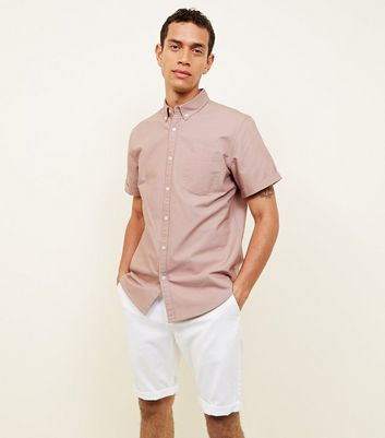 Mid Pink Oxford Short Sleeve Shirt