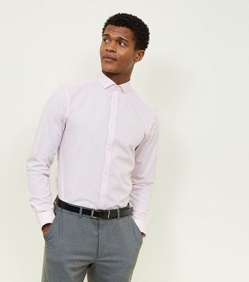 Pink Cut Away Collar Poplin Shirt