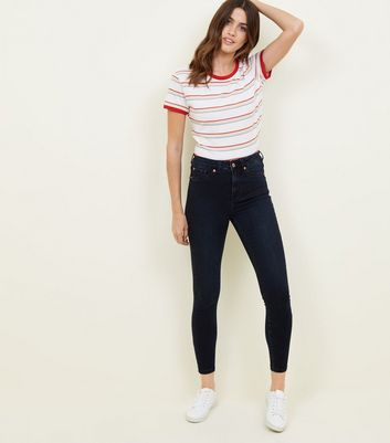 Navy High Waist Super Skinny Hallie Jeans
