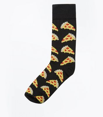 Black Pizza Socks