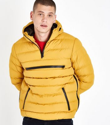 Yellow Overhead Puffer Jacket