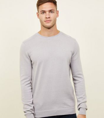 Pale Grey Crew Neck Jumper
