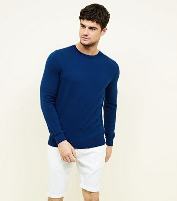 Bright Blue Crew Neck Jumper