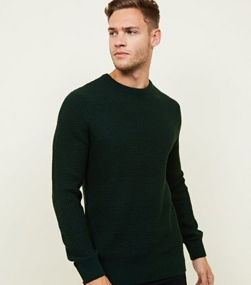 Dark Green Stitch Knitted Jumper