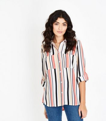 Cameo Rose Pink Stripe Pocket Shirt