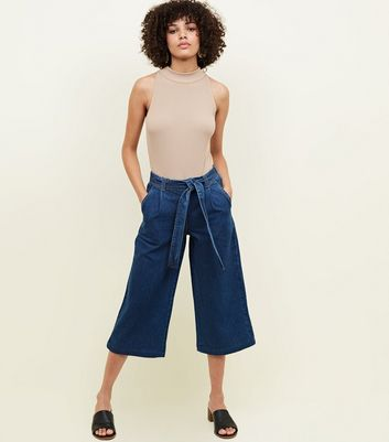 Blue Rinse Wash Denim Culottes