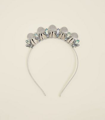 White Mermaid Crown Headband