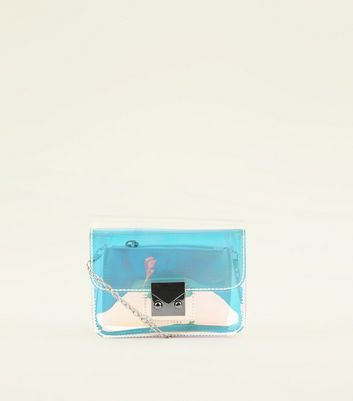 Clear Holographic Micro Shoulder Bag