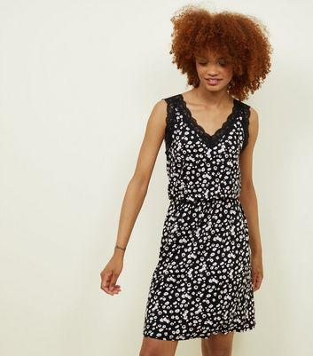 JDY Black Ditsy Floral Dress