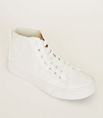 Teens White High Top Trainers