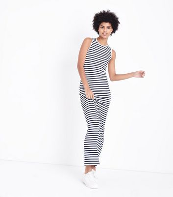 Tall Blue Stripe Sleeveless Maxi Dress