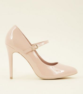 Wide Fit Nude Patent Mary Jane Courts