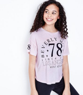 Teens Pale Pint Beverly Hills Slogan T-Shirt