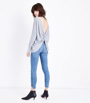 Cameo Rose Grey Twist Back Top