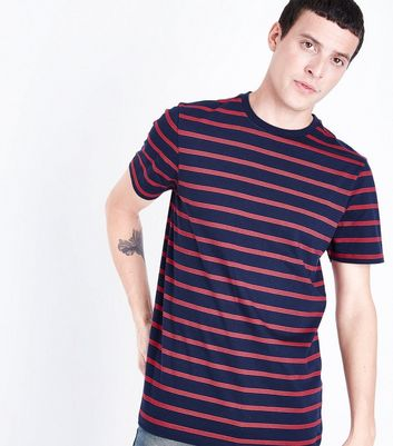 Navy Triple Stripe T-Shirt