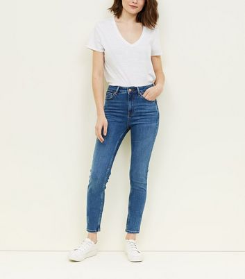 Jean super skinny bleu sculptant et push-up