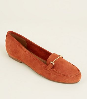 Rust Suede Loafers