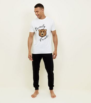 Black Bearly Awake Pyjama Set