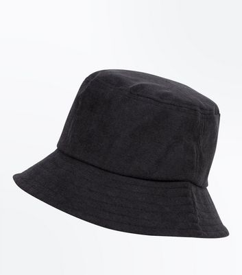 Black Bucket Hat by New Look