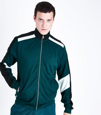 Dark Green Track Top