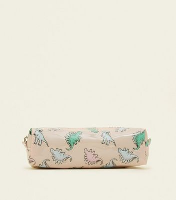 Pink Dinosaur Pencil Case by New Look