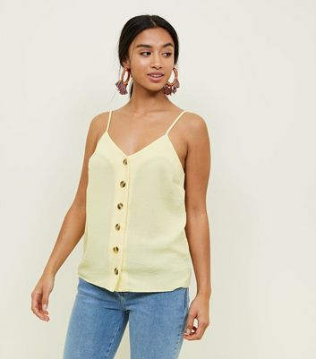 Petite Yellow Button Front Cami