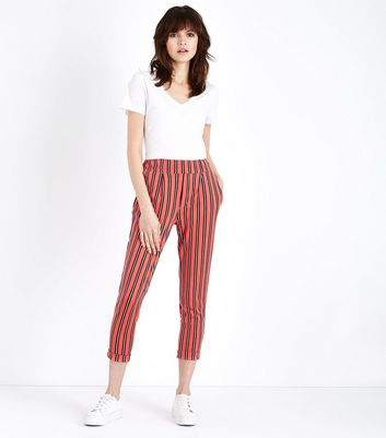 Innocence Red Stripe Slim Leg Trousers