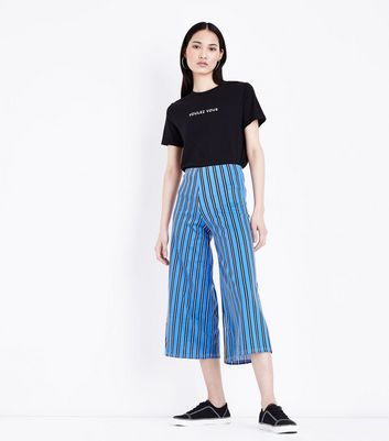 Innocence Bright Blue Stripe Culottes