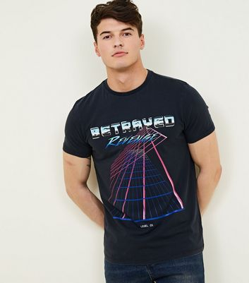 Black Slogan Betrayed Washed Graphic T Shirt by New Look